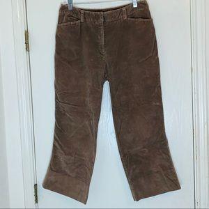 Rafaella Brown Corduroy Pants. Size 12